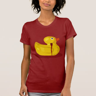 Rubber Duck Neck Shot - Bleeding Rubber Ducky Tee Shirt