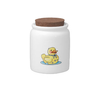 RUBBER DUCK ON WATER CANDY JARS