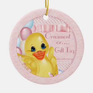 Rubber Duck P Ornament Gift Tag