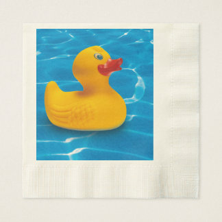 rubber duck coined luncheon napkin