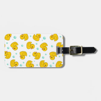 Rubber Duck Pattern Bag Tag