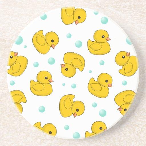 Rubber Duck Pattern Beverage Coaster