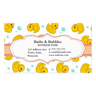 Rubber Duck Pattern Double-Sided Standard Business Cards (Pack Of 100)