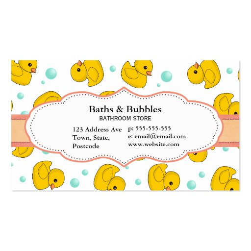 Rubber duck pattern business card templates from zazzle com