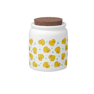 Rubber Duck Pattern Candy Jar