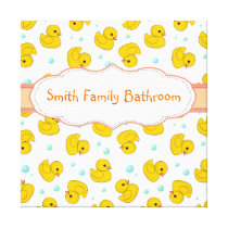 Rubber Duck Pattern Canvas Print