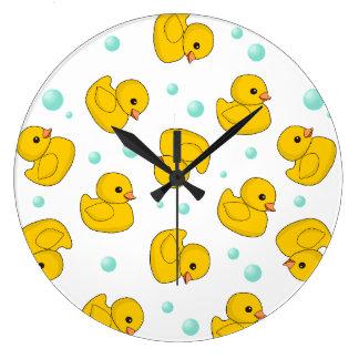 Rubber Duck Pattern Wallclock