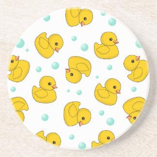 Rubber Duck Pattern Drink Coaster