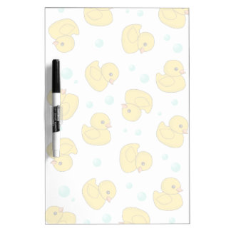 Rubber Duck Pattern Dry Erase Whiteboards