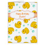 Rubber Duck Pattern Greeting Cards