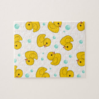 Rubber Duck Pattern Jigsaw Puzzle
