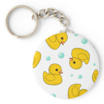 Rubber Duck Pattern Keychain