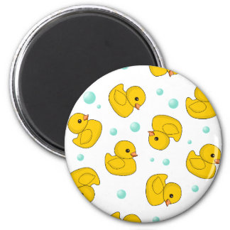 Rubber Duck Pattern Refrigerator Magnets