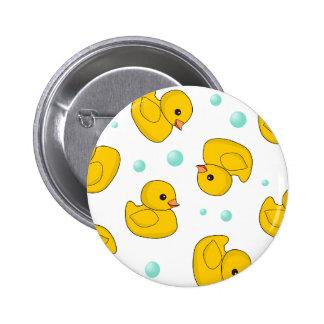Rubber Duck Pattern Pinback Button