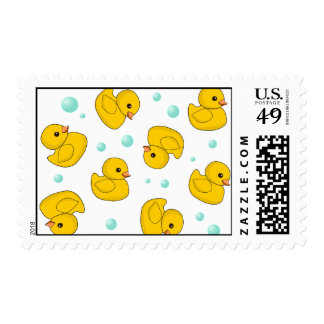 Rubber Duck Pattern Postage Stamps