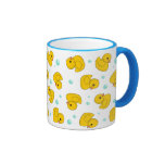 Rubber Duck Pattern Ringer Coffee Mug