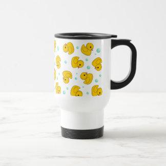 Rubber Duck Pattern Travel Mug