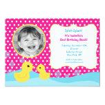 Rubber Duck Photo Birthday Invitations