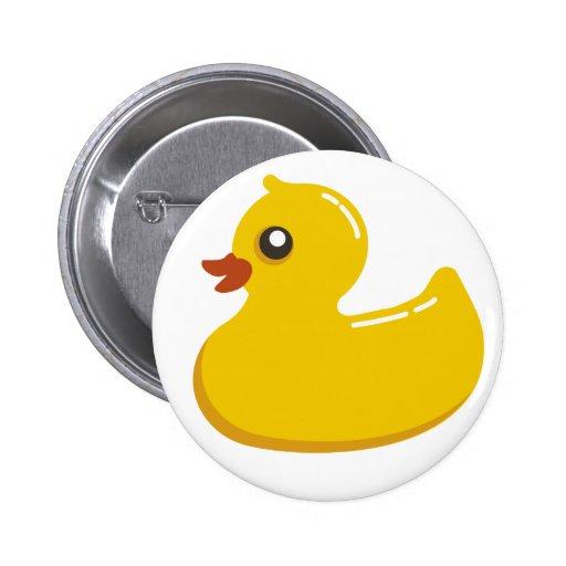 Rubber Duck Pinback Button