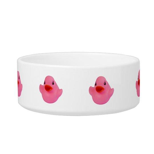 Rubber duck pink cute fun cat pet bowl, gift bowl