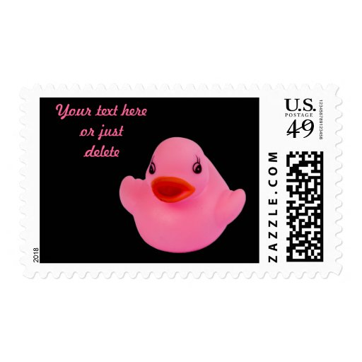 Rubber duck pink cute fun custom postage stamp
