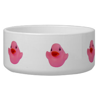 Rubber duck pink cute fun dog pet bowl, gift bowl