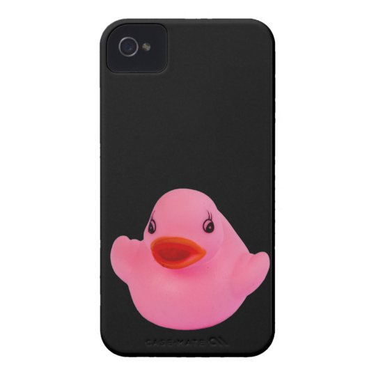 Rubber duck pink cute, fun, novelty, gift Case-Mate iPhone 4 case