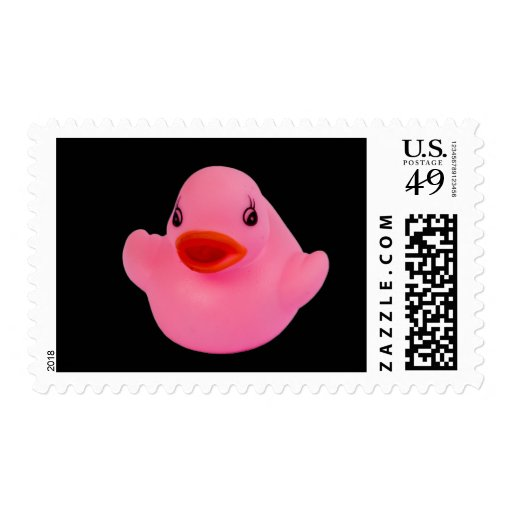 Rubber duck pink cute fun postage stamp