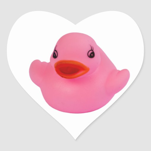 Rubber duck pink cute fun sticker, stickers, gift