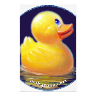 Rubber Duck s Vacation Customized Stationery