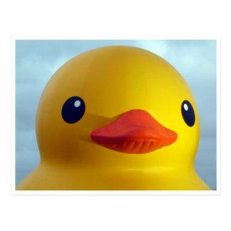 rubber duck smile postcard