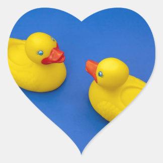 Rubber Duck Heart Sticker