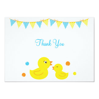 Rubber Duck Thank You Note Cards