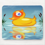 Rubber Duck With Bubbles Mouse Mats