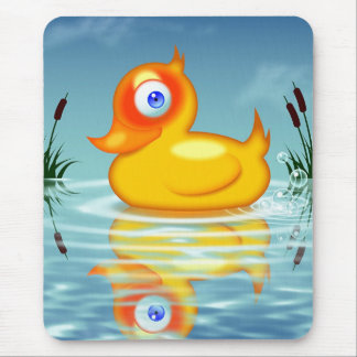 Rubber Duck With Bubbles Mouse Pad