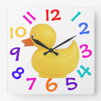 Rubber Duck With Colorful Numbers Clock