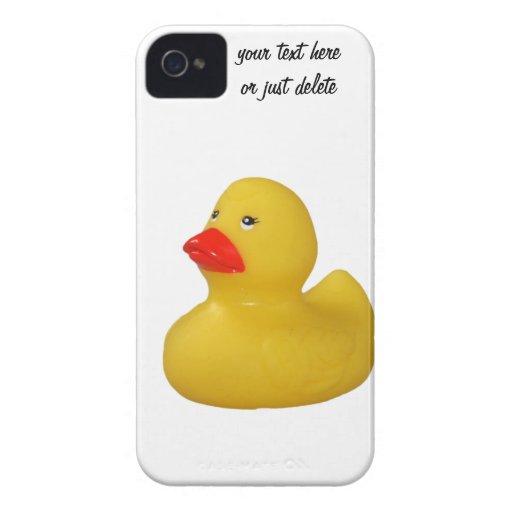 Rubber duck yellow cute custom iphone 4 case mate