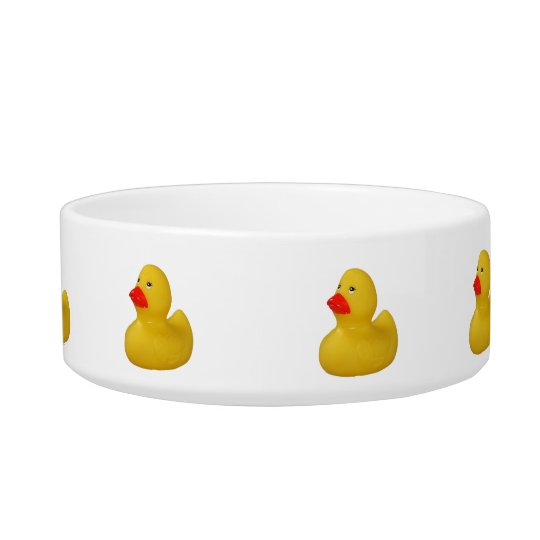 Rubber duck yellow cute fun cat pet bowl