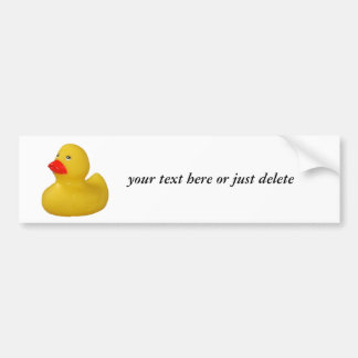 Rubber duck yellow cute fun custom bumper sticker