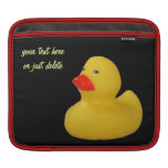 Rubber duck yellow cute fun custom ipad sleeve