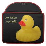 Rubber duck yellow fun cute custom macbook sleeve sleeves for MacBooks