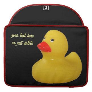 Rubber duck yellow fun cute custom macbook sleeve