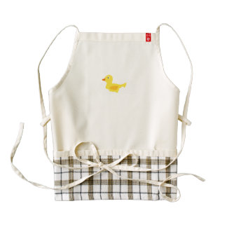 Rubber duck zazzle HEART apron