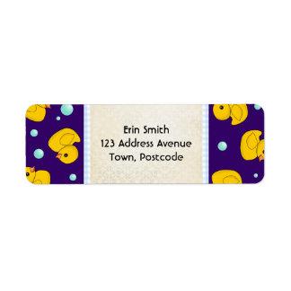 Rubber Duckie address label