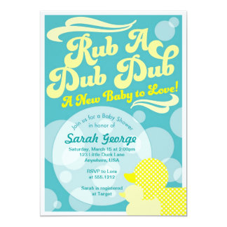 Rubber Duckie Baby Shower Invitation