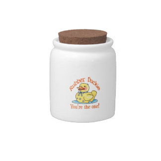 RUBBER DUCKIE CANDY JAR
