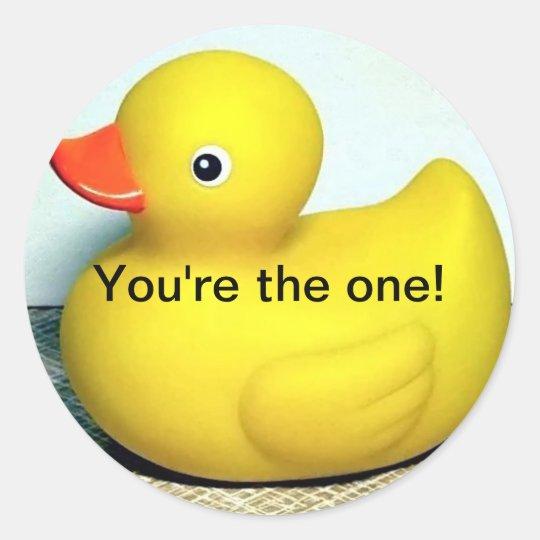 Rubber Duckie Classic Round Sticker
