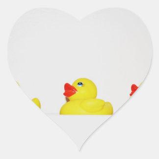 Rubber Duckie Heart Sticker