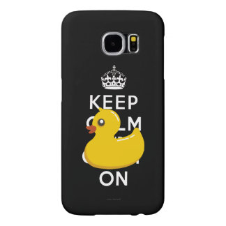 Rubber Duckie Keep Calm and Carry On Samsung Galaxy S6 Cases