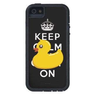 Rubber Duckie Keep Calm and Carry On iPhone 5 Case